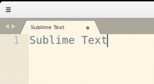 Sublime text no menu