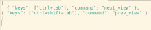 Settings files for Sublimetext, previous next tab and look