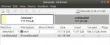 Ubuntu 18.04 partitions Gparted