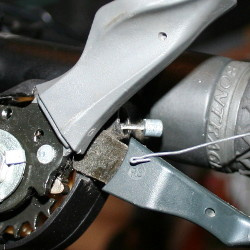 Tool for removing a broken off cable head from inside a Shimano gear shifter
