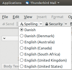 Thunderbird spellchecker English