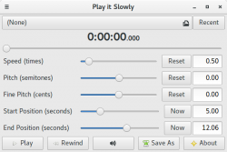 how to play a song slowly