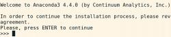 Anaconda Python virtual environment install screen