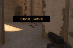 Paused Counter-Strike bot game