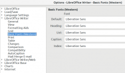 Default font in LibreOffice Writer, Liberation Sans
