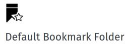 default folder for new bookmarks to Bookmark Menu