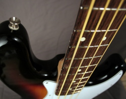 Refretting a Fender Jazz Bass guitar, DIY