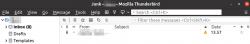 Tabs disabled in Mozilla Thunderbird