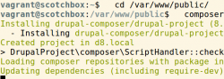 ScotchBox Composer Drupal 8